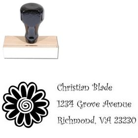 Flower Curlz Personal Address Stamper