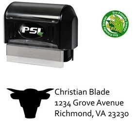 Pre-Inked Bull Compliant Return Address Ink Stamp