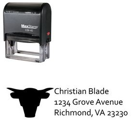 Self-Ink Bull Compliant Return Address Ink Stamp