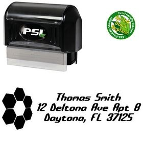 PSI Pre-Ink Honey Comb Detonate Custom Address Rubber Stamp