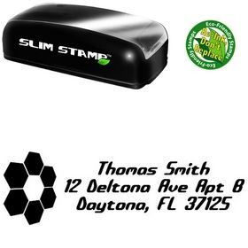 Slim Pre-Inked Honey Comb Detonate Custom Address Rubber Stamp