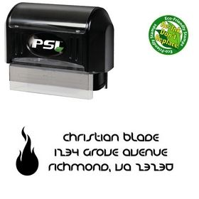 PSI Pre-Inked Fire Danube Initial Address Rubber Stamp