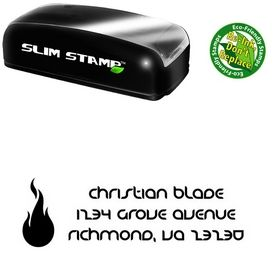 Slim Fire Danube Initial Address Rubber Stamp