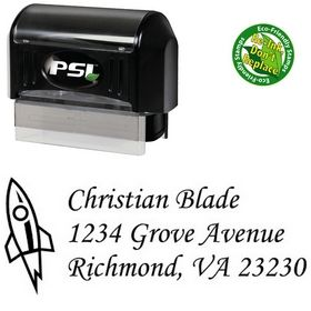 Pre-Ink Rocket Corsiva Address Stamp