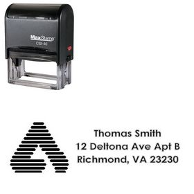 Self-Inking A College Halo Creative Address Stamp