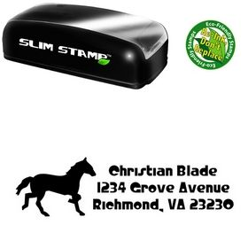 Slim Pre-Ink Horse Crystal Radio Kit Customized Address Stamp