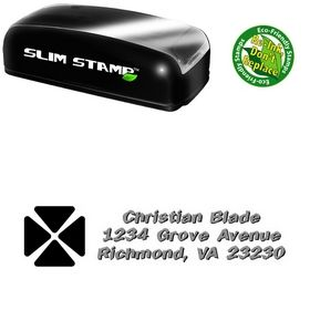 Portable Clover Tickertape Personalized Address Stamp