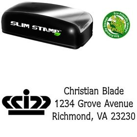 Slimline Crown Drummon Narrow Custom Address Stamper