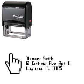 Self Ink Hand Compliant Personal Address Stamper