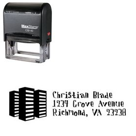 Self Inking Davis Buildings Personalized Address Stamper