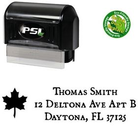PSI Pre-Ink Leaf Dominican Address Ink Stamp