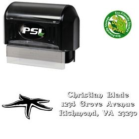 PSI Pre-Inked Star Devinne Swash Customized Address Ink Stamp