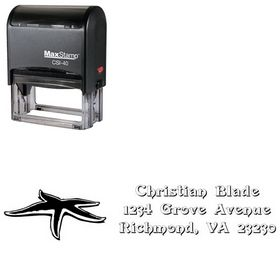 Self-Inking Star Devinne Swash Customized Address Ink Stamp