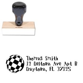 Disco Ball Davis Custom Address Ink Stamp