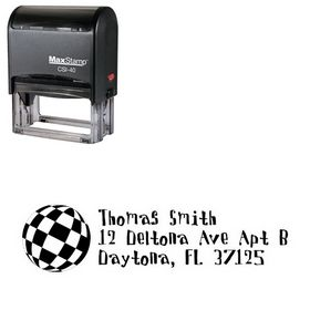 Self Ink Disco Ball Davis Custom Address Ink Stamp