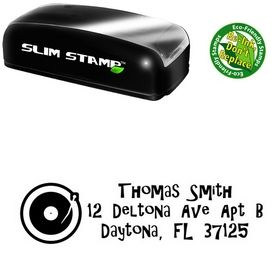 Slim Pre-Inked Turntable Gilligans Island Personalized Address Ink Stamp