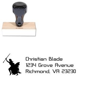 Knight Crystal Return Address Ink Stamp