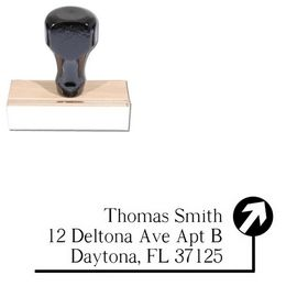 Path Roman Custom Address Rubber Stamp