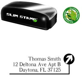 Portable Path Roman Custom Address Rubber Stamp