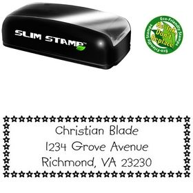 Slim Stars Kidprint Customized Address Rubber Stamp