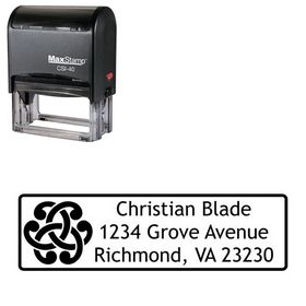 Self Inking Links Trebuchet MS Personalized Address Rubber Stamp