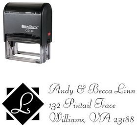 Self Stamping Diamond Fill Liberty Creative Address Stamp
