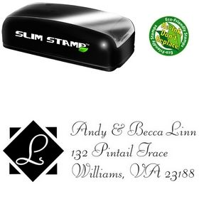 Compact Diamond Fill Liberty Creative Address Stamp