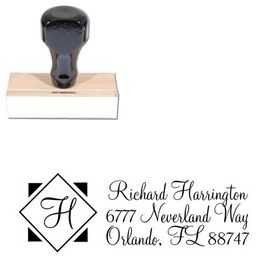 Diamond Monterey Customized Address Stamp