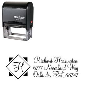Self Inking Diamond Monterey Customized Address Stamp