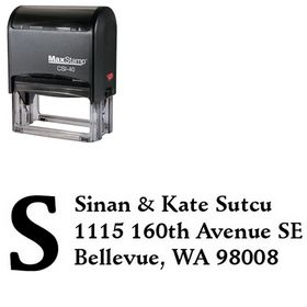 Self-Inking Initial Fill Schneidler Personal Address Stamp