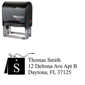 Self Stamping Card Times New Roman Initial Address Stamper