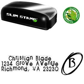 Slim Pre-Inked Tom Violence Personal Address Stamper