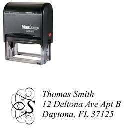 Self Stamping Dukeplus Customized Address Ink Stamp