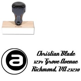 A Inside Deftone Stylus Custom Address Ink Stamp