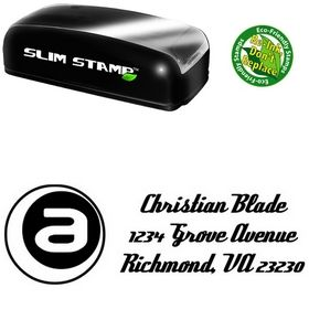 Slim A Inside Deftone Stylus Custom Address Ink Stamp