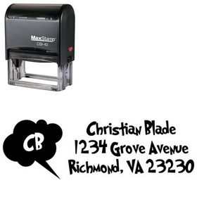 Self Ink Grinched Address Rubber Stamp