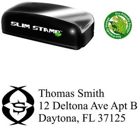 Slimline Initial New Roman Creative Address Rubber Stamp