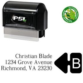 Pre-Ink Super French Custom Address Rubber Stamp