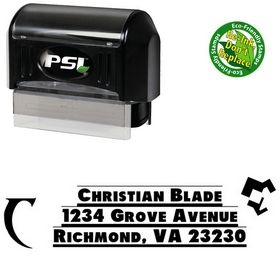 Pre-Inked Shadow Tag Personalized Address Rubber Stamp