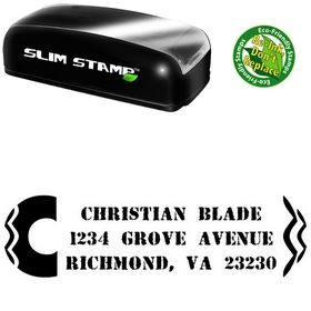 Slim Initial Jag Due Date Address Stamp