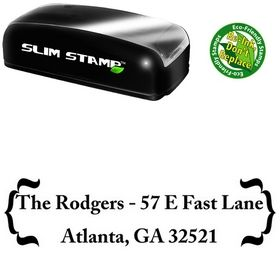 Slim Pre-Inked Zenda Customized Address Stamp