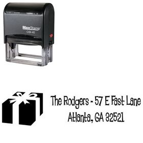 Self Ink Lounge Bait Personalized Address Stamp