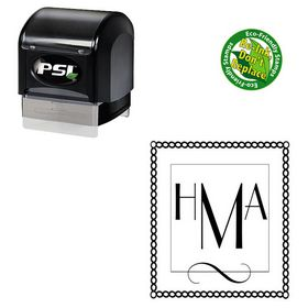 PSI Pre Inked Parisian Custom Made Monogrammed Rubber Stamp