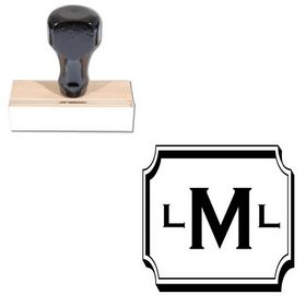 Copperplate Gothic Custom Made Rubber Initial Stamp