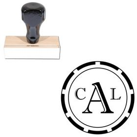 Imprint Shadow Custom Round Monogram Stamp