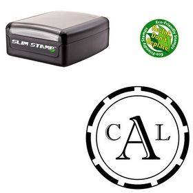 Slimline Imprint Shadow Custom Round Monogram Stamp
