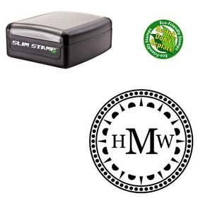 Slim Pre-Inked Georgia Personalized Monogram Stamper