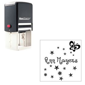 Self-Inking Jandles Personal Monogrammed Rubber Stamp