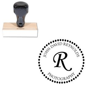 Monotype Corsiva Personalized Monogrammed Rubber Stamp