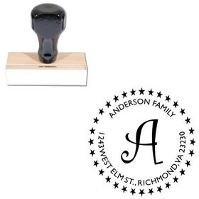 Curlz Custom Made Address Monogram Stamp